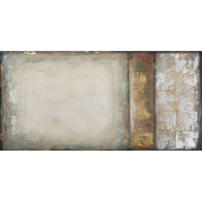 Tableau 70x140 peinture et éléments métal pier import image 0