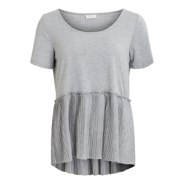 T-Shirt, runder Ausschnitt, Plisseefalten  VILA image 0
