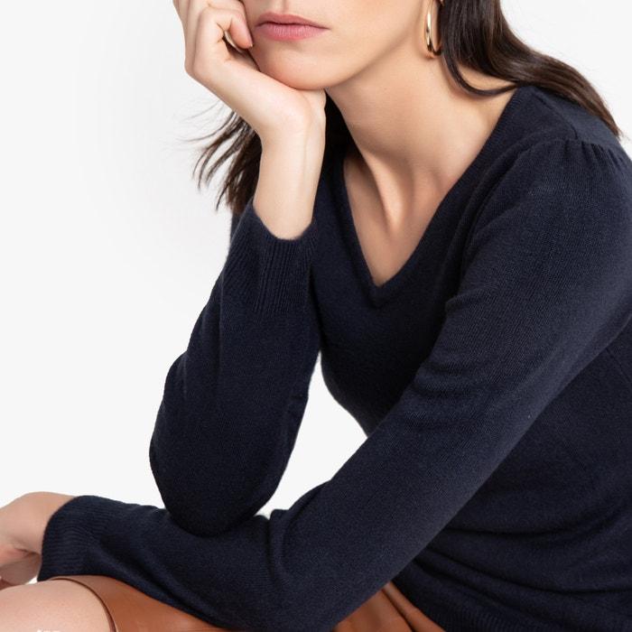 Trui met V-hals in fijn tricot  ANNE WEYBURN image 0