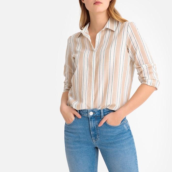 e6e75a434dc5c3 Metallic striped cotton shirt La Redoute Collections | La Redoute