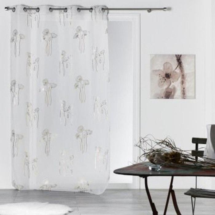 voilage oeillets inox 140x240 bianca blanc douceur d interieur la redoute. Black Bedroom Furniture Sets. Home Design Ideas