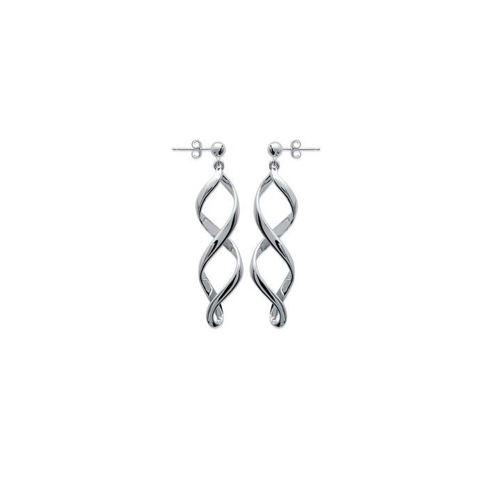 boucles d'oreilles pendantes spirales