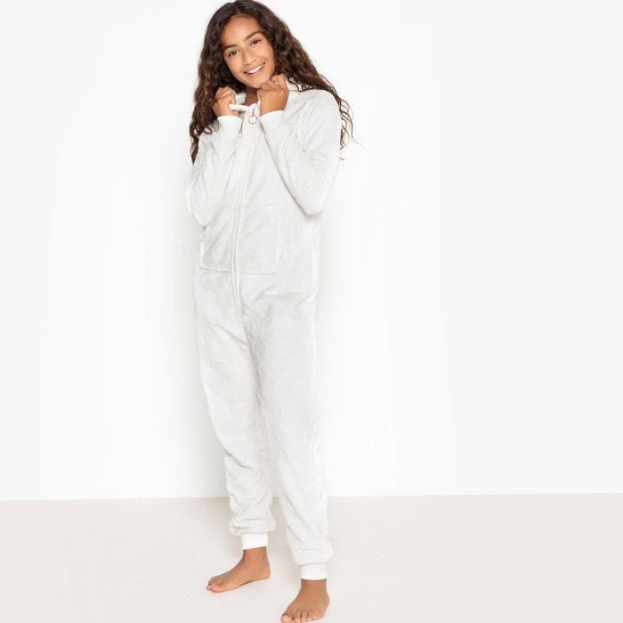 c9dab27f Jumpsuit pyjama in pluche ecru La Redoute Collections   La Redoute