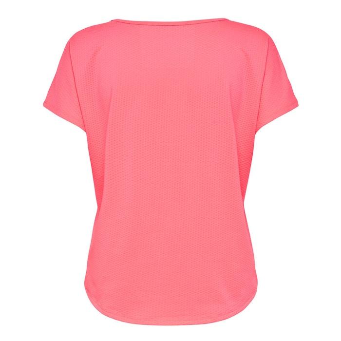 PLAY redondo ONLY Camiseta manga motivo cuello corta delante con RwpdwT