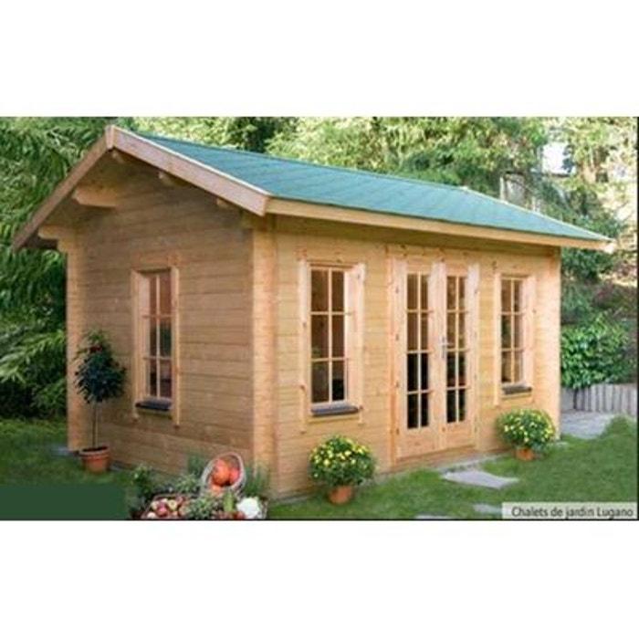 chalet de jardin en bois 420 x 300 cm m lugano. Black Bedroom Furniture Sets. Home Design Ideas