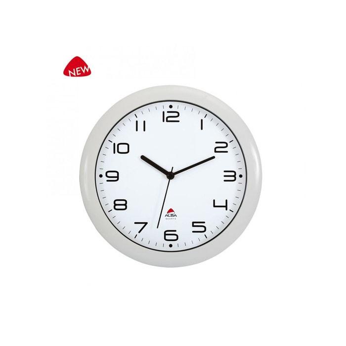 alba hornew bc quartz horloge silencieuse blanc 30 x 5 5 x 30 cm blanc alba la redoute. Black Bedroom Furniture Sets. Home Design Ideas