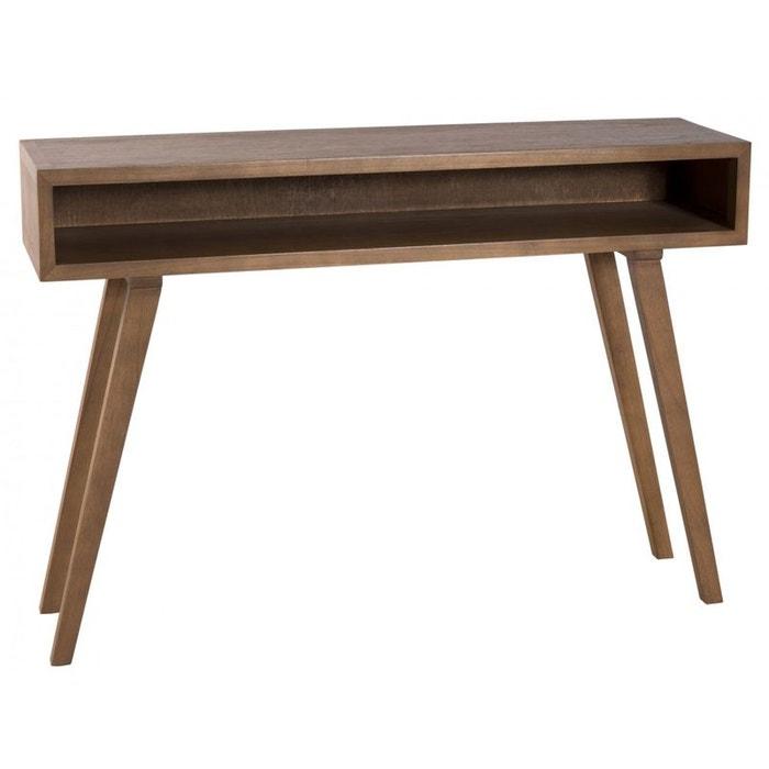Console vintage bois couleur cannelle 1 niche 115x30x81cm - Console informatique pas cher ...