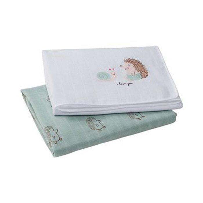 bornino les langes en coffret cadeau couche en tissu blanc vert bornino la redoute. Black Bedroom Furniture Sets. Home Design Ideas