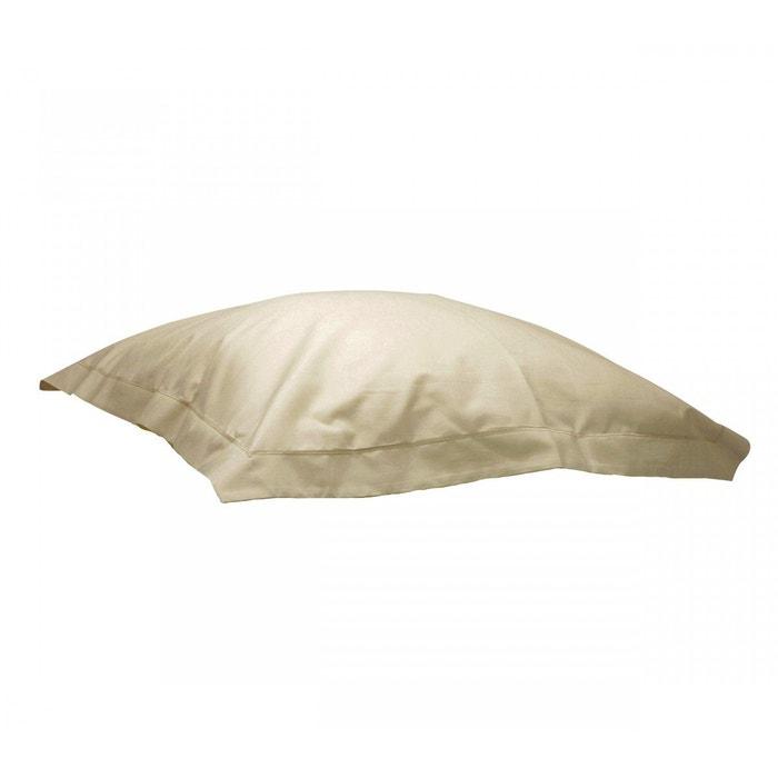 taie d 39 oreiller seigle 100 coton beige terre de nuit la redoute. Black Bedroom Furniture Sets. Home Design Ideas