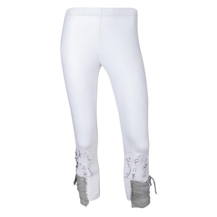 Legging court bas fantaisie laurea blanc Cimalp  006621e4181