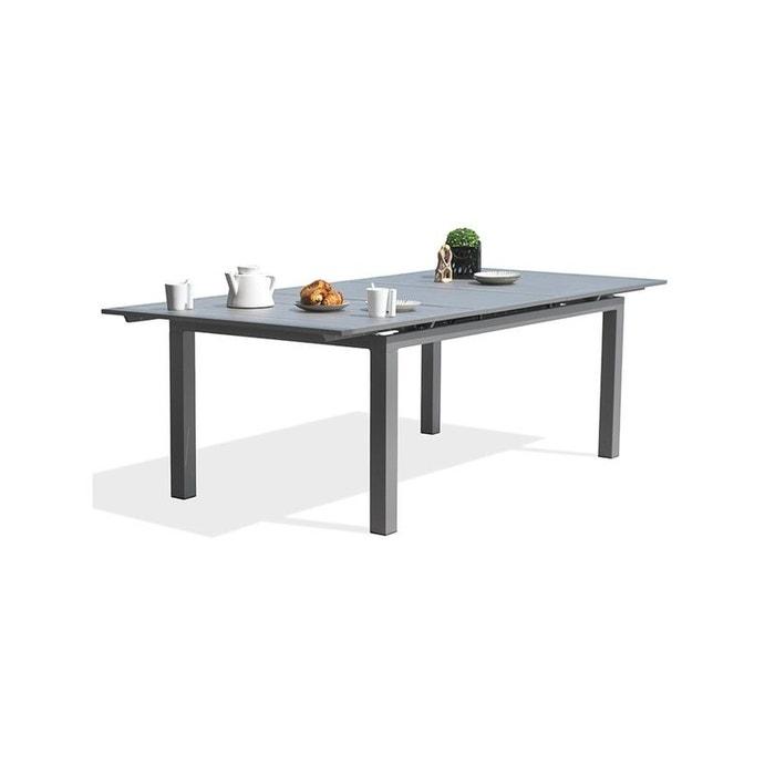 Table orlando 240/300x100 cm avec rallonge automatique, en aluminium ...