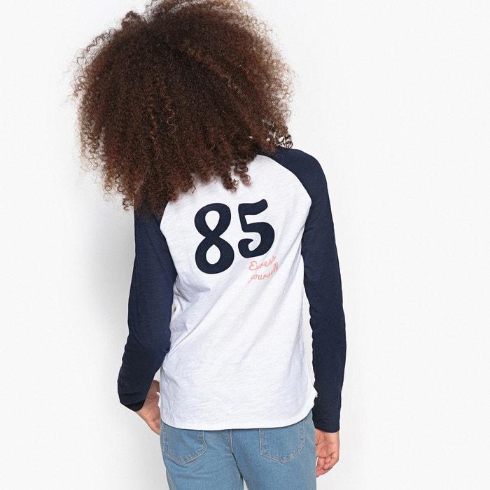 afbeelding T-shirt met motief ''85'' achteraan 10-16 jr La Redoute Collections
