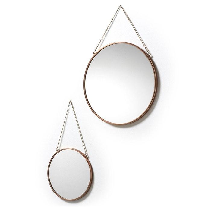 Set de 2 miroirs icon neutro cobre kave home la redoute for Espejo kavehome