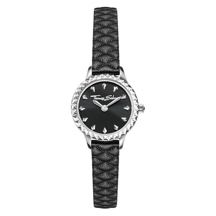 e62a5c7e5597c Montre pour femme rebel at heart miniature montre pour femme acier  inoxydable; cuir noir/argenté Thomas Sabo | La Redoute