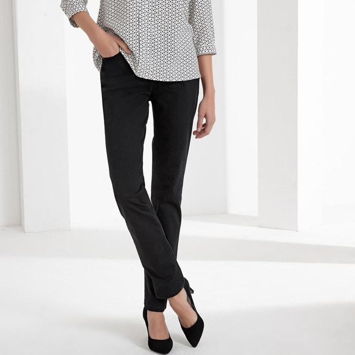 42e77f1d1da5b Pantalon droit 5 poches coton stretch Anne Weyburn   La Redoute