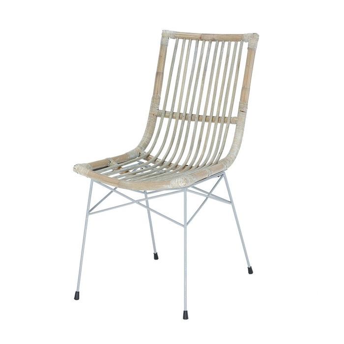 Chaise en rotin remi chaise salle manger rotin et pied for Chaise rotin et fer