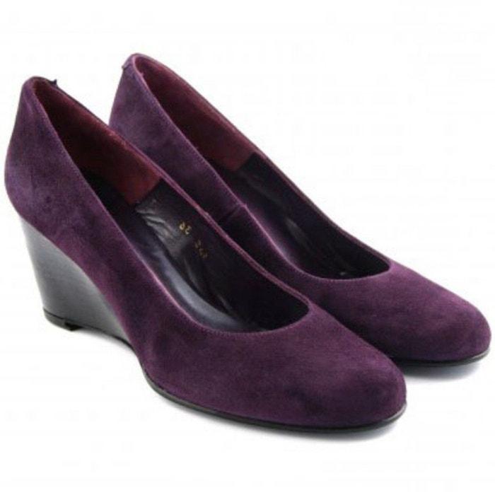 Chaussures compensées zinda violet Exclusif Paris