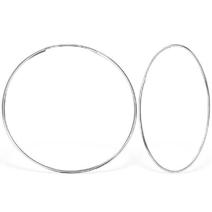 Boucles d oreilles créoles 50 mm argent 925 So Chic Bijoux   La Redoute 965d489836d6