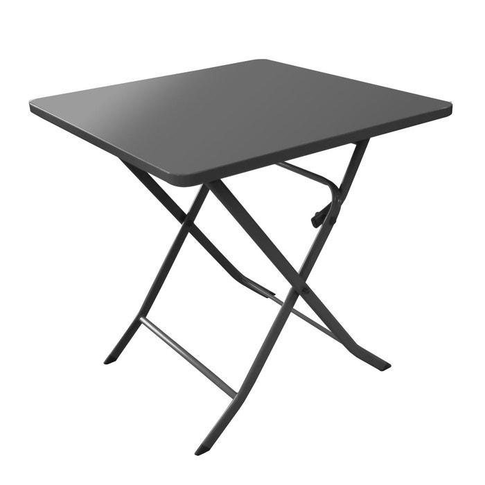 table de jardin carr e m rida anthracite 70 cm rendez vous deco la redoute. Black Bedroom Furniture Sets. Home Design Ideas