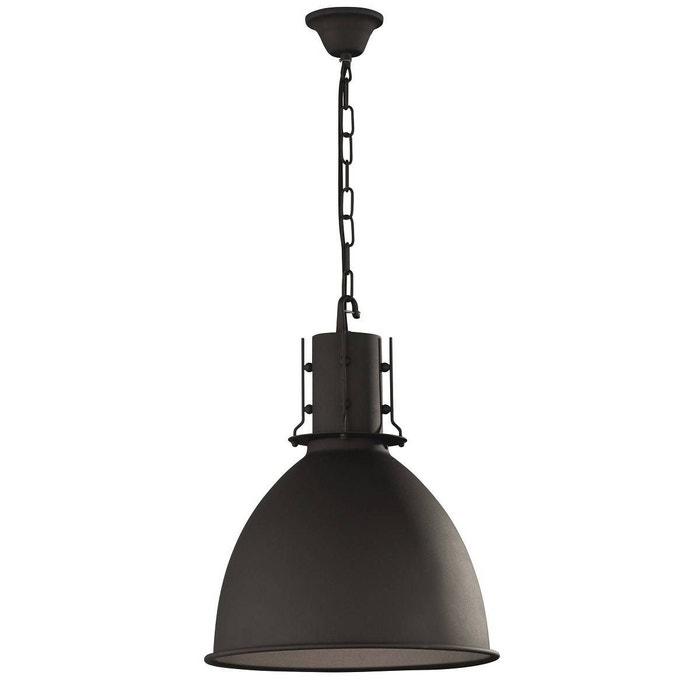 suspension industrielle london noire en métal noir keria | la redoute