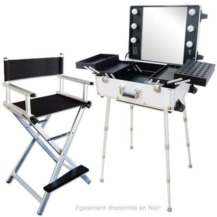 ensemble studio make up gris alu table et chaise maquilleur couleur unique cosmetics united. Black Bedroom Furniture Sets. Home Design Ideas
