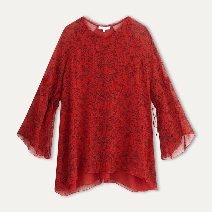 robe appoline rouge noir iro la redoute. Black Bedroom Furniture Sets. Home Design Ideas
