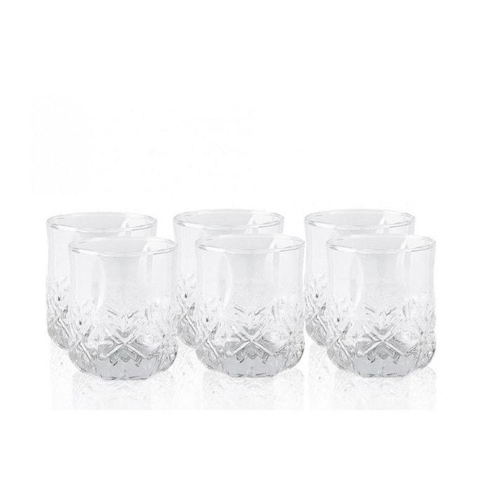 coffret de 6 verres whisky avec motifs emboss s transparent wadiga la redoute. Black Bedroom Furniture Sets. Home Design Ideas