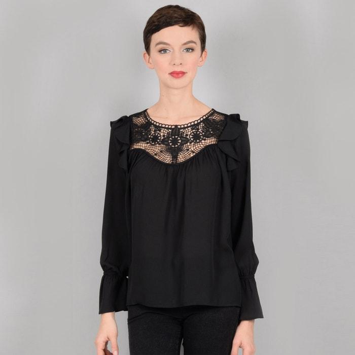 Блузка с кружевной манишкой и воланами на плечах  MOLLY BRACKEN image 0