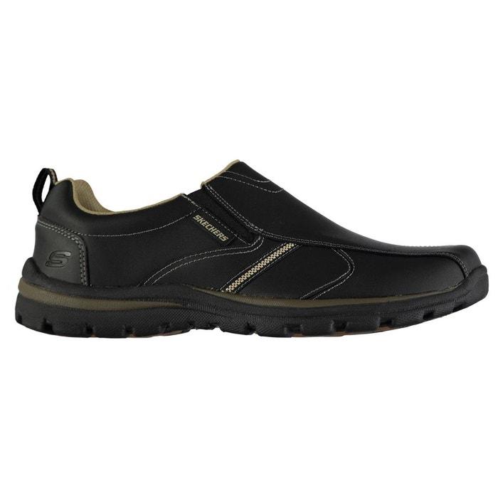 Chaussures décontractées en cuir inserts élastiques Skechers