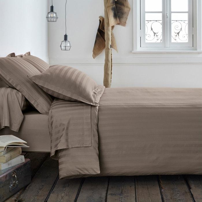 Image Poszwa na kołdrę, bawełna satynowa, tkanina w paski La Redoute Interieurs