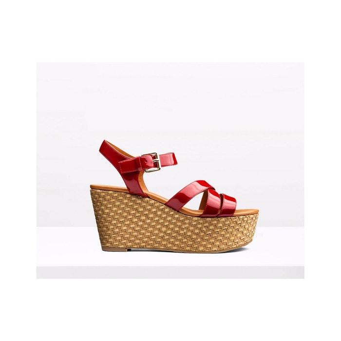 Sandales compensées en cuir Parcourir À Vendre 9mbaNFoW4