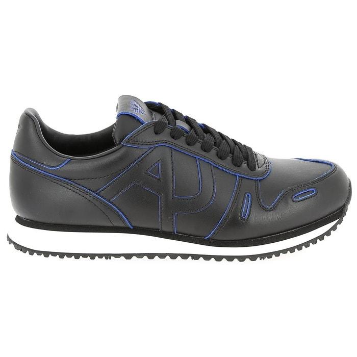 Baskets basses armani 935032 7a422 noir/bleu Armani