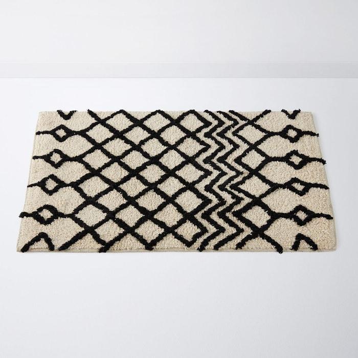 tapis de bain style berb re tuft main cali blanc noir la redoute interieurs la redoute. Black Bedroom Furniture Sets. Home Design Ideas