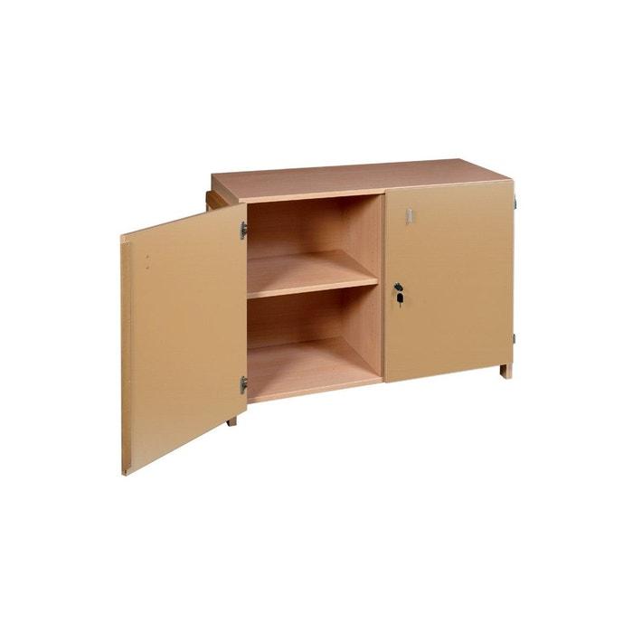 armoire basse ric hochet en bois naturel marron t mobilier. Black Bedroom Furniture Sets. Home Design Ideas