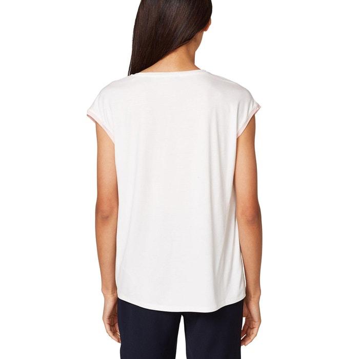 con cuello ESPRIT de Camiseta flores corta y de manga motivo redondo If4Aqxf1