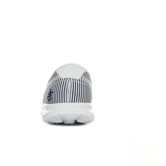 Baskets femme go step sandy blanc / bleu marine Skechers