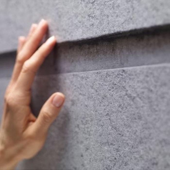 pierre de taille papier peint gris gris koziel la redoute. Black Bedroom Furniture Sets. Home Design Ideas