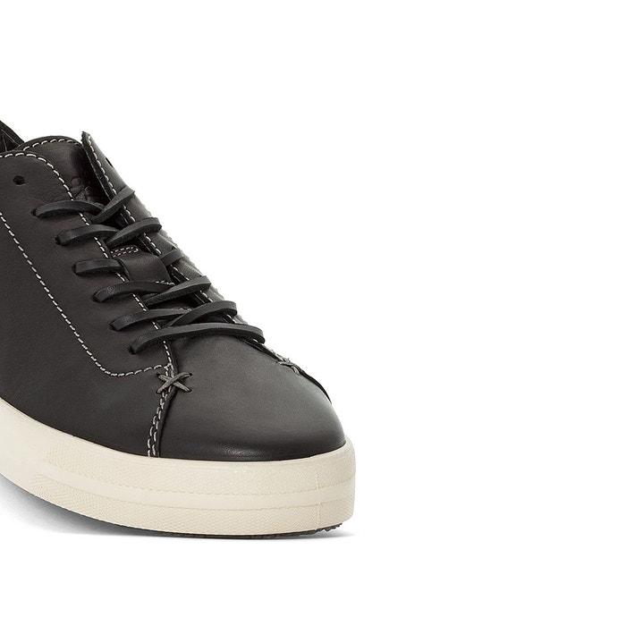 Baskets cuir bump noir Pataugas