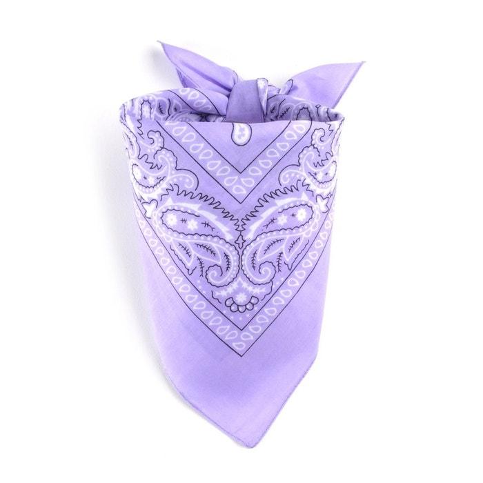 Foulard bandana mauve 2c71f4e2917