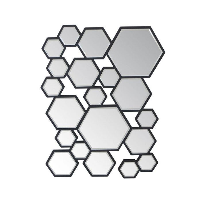 Miroir design multi hexa gris gris emde premium la redoute for Miroir emde deco