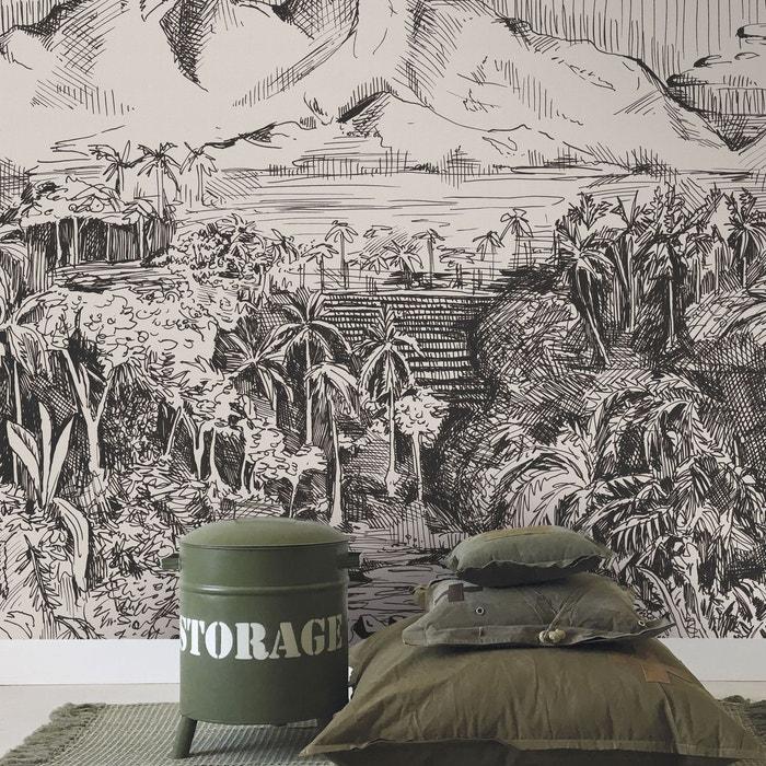 Stapelgoed Papier Peint Intissé Digital Jungle Noir Blanc 300 X 280cm Paysage