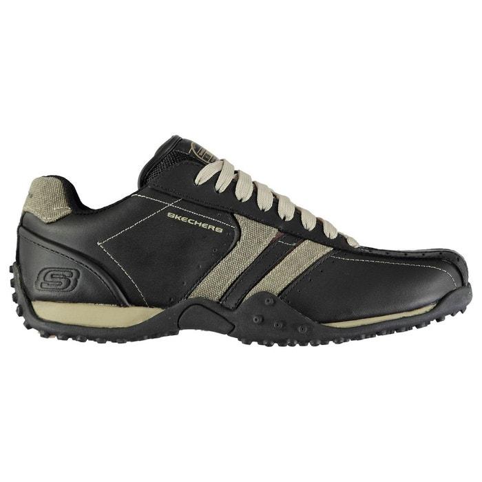 Chaussures décontractées en cuir à lacets Skechers