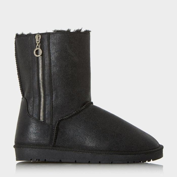 Bottines de neige avec doublure confortable - ricki  noir synthétique Head Over Heels By Dune  La Redoute