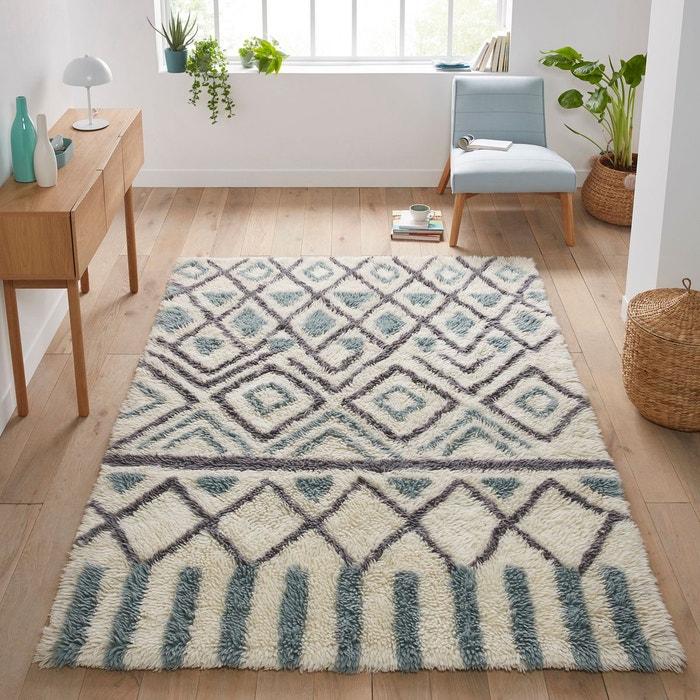 tapis en laine ocrul bleu c ladon gris la redoute interieurs la redoute. Black Bedroom Furniture Sets. Home Design Ideas