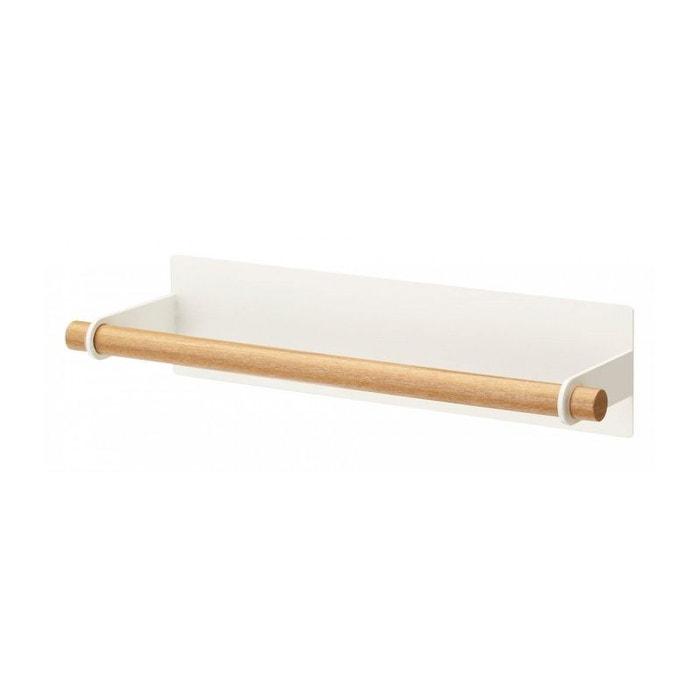 d rouleur essuie tout mural magn tique bois et m tal blanc blanc wadiga la redoute. Black Bedroom Furniture Sets. Home Design Ideas