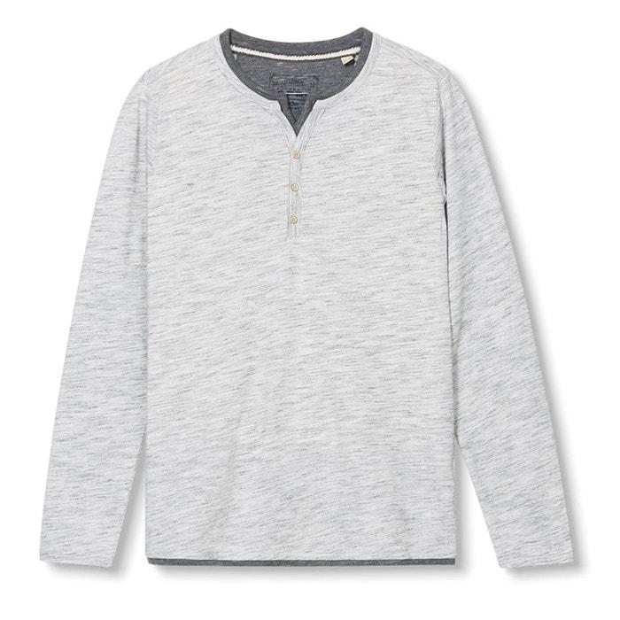 Imagen de Camiseta de manga larga y cuello tunecino ESPRIT