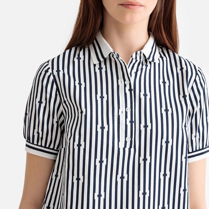 1be6b91b90384c Striped cotton polo dress blue striped/white La Redoute Collections ...