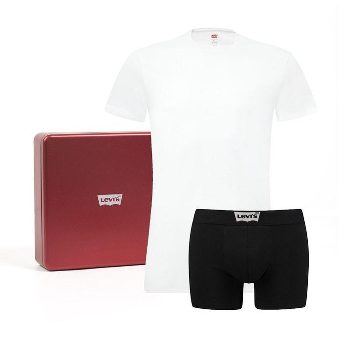 Coffret cadeau boxer + t-shirt blanc noir Levi s   La Redoute e5ccb9c12092