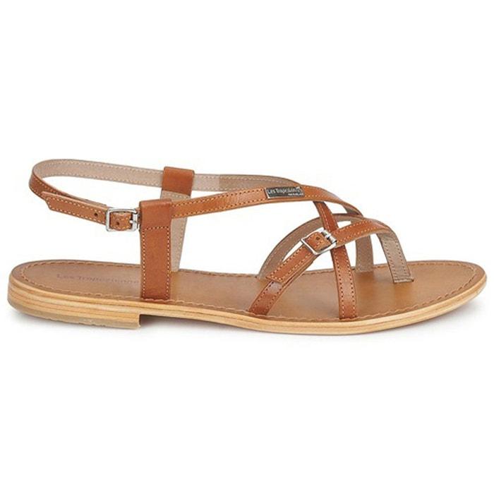 sandales cuir tan les tropeziennes par m belarbi en solde la redoute