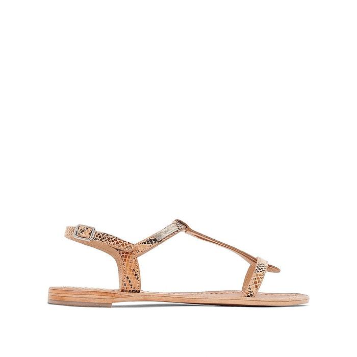sandales cuir plates hamess beige serpent les tropeziennes par m belarbi la redoute. Black Bedroom Furniture Sets. Home Design Ideas